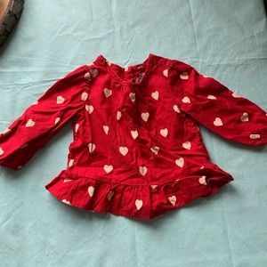 Red baby gap blouse